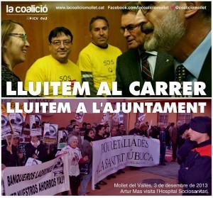A Mollet La Coalició ICV-EUiA Lluitem al carrer i LLuitem a l'Ajuntament
